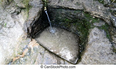 Water source and reservoir - Source of water and stone...