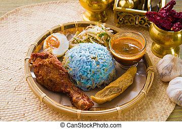 Nasi, kerabu, populaire, ramadan, nourriture, malaisie