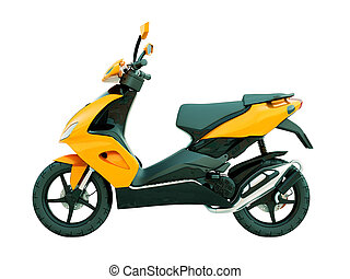 Modern scooter isolated - Modern powerful sports scooter...
