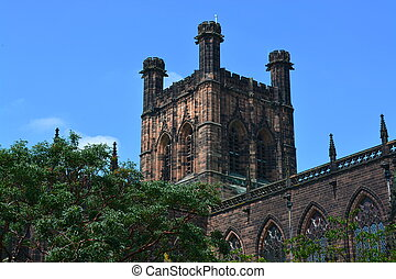 Chester Cathedral  - Chester cathedral in summer