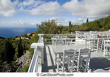 Taverne bei Exanthia  auf der Insel Lefkas in Griechenland