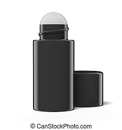 roll-on deodorant isolated on a white background