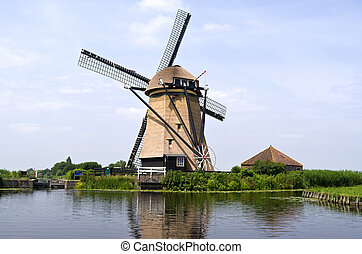 Rietveldse mill. - Rietveldse mill in Hazerswoude-Dorp, The...