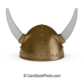 Viking Helmet isolated on white