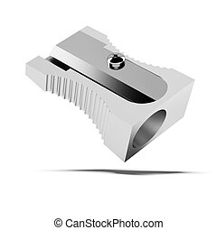Metal sharpener  isolated on a white background