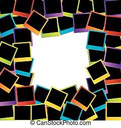 Polaroid frame- colorful polaroids