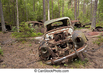 Car Dump in Kirkoe Mosse, Sweden