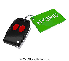 Green - Hybrid Car Key