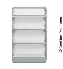 Empty Supermarket Shelf - 3d illustration