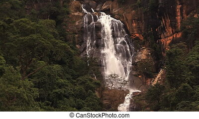 Waterfall in Nuwara Eliya. - Waterfall in Nuwara Eliya, Sri...