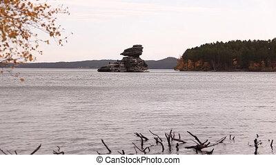 Autumn landscape. - Autumn landscape with Zhumbaktas rock....