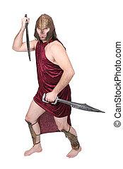 greek soldier man