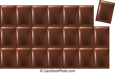 Bar Of Chocolate - Vector of a chocolate bar consisting of...