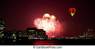 July 4th fireworks - The 4th of July fireworks over the...