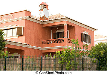 Pink house in Albufeira