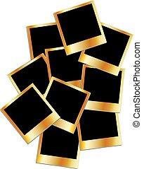 Gold polaroids