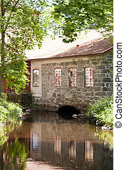 Water Mill in Huseby Bruk in Sweden