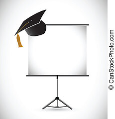 blank education graduation presentation board.
