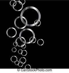 Background with silver rings
