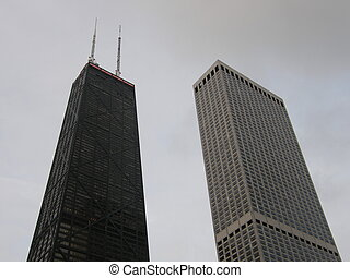 John Hancock & Water Tower Place in Chicago