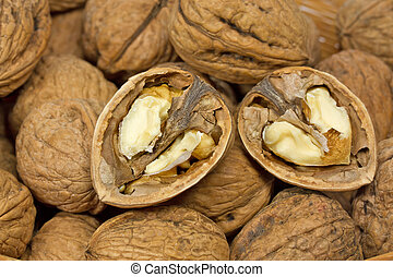 Walnuts, format filling as background