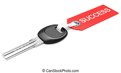 Key to success - business concept. 3d image isolated on a...