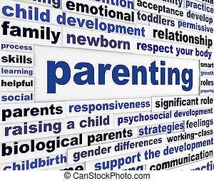 Parenting educational message design. Parents responsiveness...