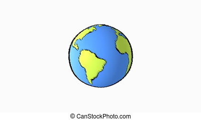 planet line - cartoon earth background
