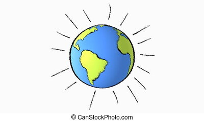earth line background - cartoon earth background