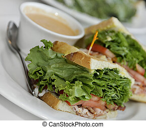 Turkey Sandwich Lunch - Turkey Club Sandwich Lunch With...