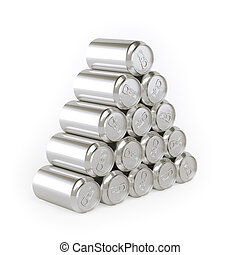 Pyramid of cans Tin-Plate Material - Pyramid of cans...