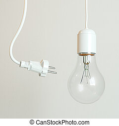 Socket And Bulb (Conceptual Energy Picture)