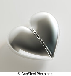 Weld Metal Heart On White Background (Idea For Greeting...