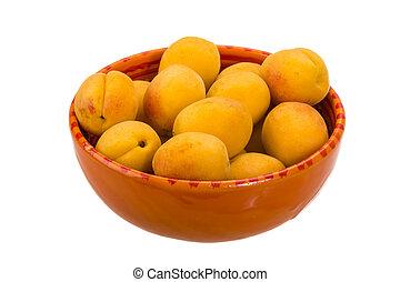 Ripe apricots