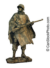 american soldier - cut out statue of american soldier, can...