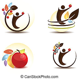 Apple tree and human - Apple fruit concept Human keeping...