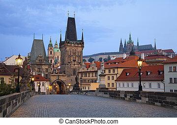 Prague. - Image of Prague taken from famous Charles Bridge.