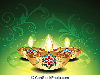 Abstract Deepawali Background vector illustration