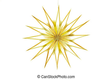 Straw star on white background - Straw star for a christmas...