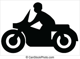 Motorcycle Silhouette - Silhouette of a motorcycle and rider...