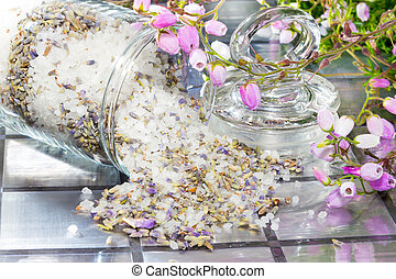 Floral potpourri with a fresh aromatic scent - Closeup view...