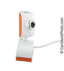 web camera on white background