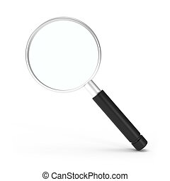 Search Icon Magnifying Glass isolated on white - 3d...