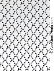 Chain link fence; gray; vector