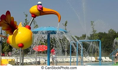 aqua park - lot of a fun and summer happines