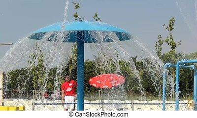aqua park - lot of a fun and summer happines