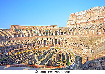 Antic theater Colosseum - Antic theater Colosseum arena in...