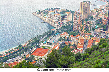 Monte Carlo - Up view of Monte Carlo in Monaco