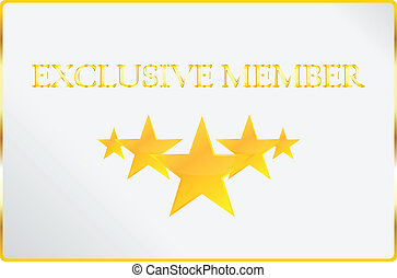 Exclusive Member Card Vector Illustration