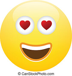 Emoticon Smiley Face Love Vector Illustration